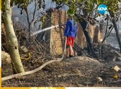 Гасенето на пожара в Старосел Кадър: Нова тв