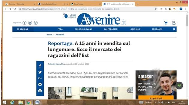 Католически вестник: Децата на  BG роми проституират до Неапол