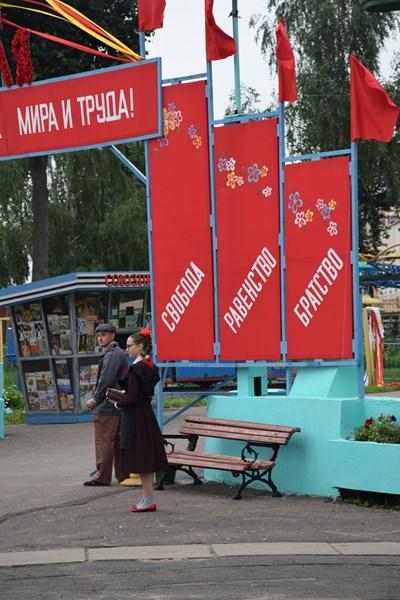 Кадър от руския сериал, който отвръща на хитовия филм по НВО.