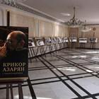 Поглед към изложбата, посветена на Крикор Азарян, в Народния театър.