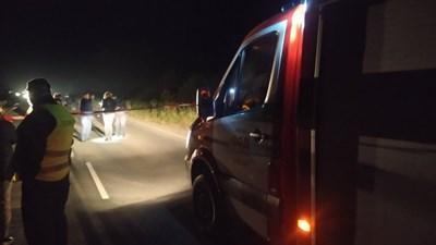 Инцидентът е станал снощи около 22:20 часа до с. Константиново. СНИМКА: БНТ, Давид Сукнаров
