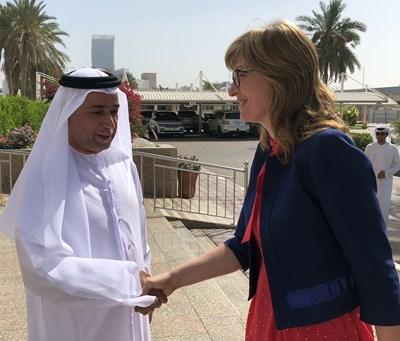 Вицепремиерът и министър на външните работи Екатерина Захариева се срещна с министъра на правосъдието на Обединените арабски емирства Султан ал Бади.Снимка Авторът