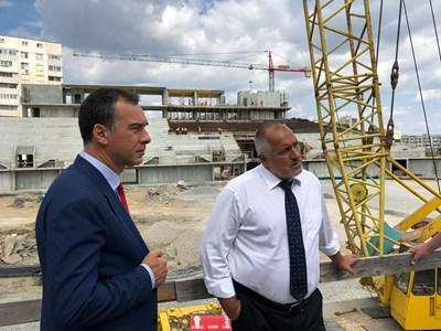Кметът на Бургас Димитър Иванов и премиерът на страната Бойко Борисов  СНИМКИ: Правителствена пресслужба