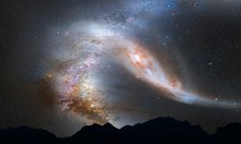 Астрономи откриха древна галактика като гигантски огнен пръстен