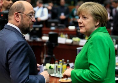Мартин Шулц и Ангела Меркел Снимка: Ройтерс