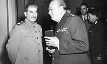 Сталин и Чърчил - бащи на 9. 9. 1944 г. Тогава Великобритания снабдява с оръжие българските партизани и наред с това бомбардира жестоко страната