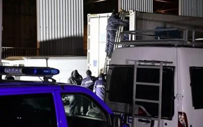Камионът, в който бил скрит кокаинът. СНИМКА: НОВА ТВ