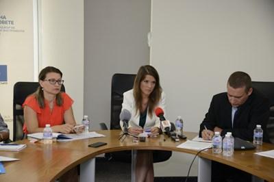 Председателят на Фонда на фондовете Светослава Георгиева представи посредниците за двата фонда. СНИМКА: Мария Милкова