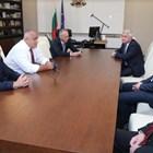 Премиерът Борисов по време на среща с ръководството на Съвета на ректорите СНИМКА: Правителствена информационна служба.