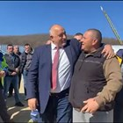 """Борисов се шегува с работниците на АМ """"Хемус"""""""