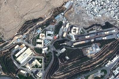 """Сателитна снимка на изследователския център """"Барзах"""" в Сирия преди атаката на САЩ Снимки: Ройтерс"""