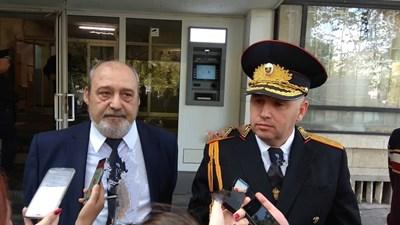 Апелативният прокурор Любомир Петров и страши комисар Радослав Сотиров. Снимка:Елена Фотева