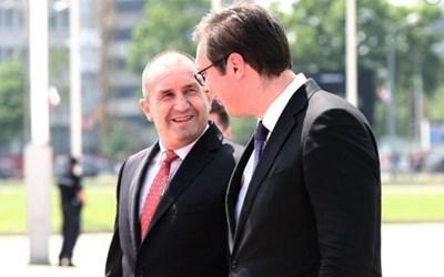 Румен Радев и Александър Вучич Снимка: Пресслужба На Президента