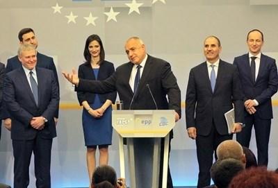 Борисов похвали кандидатите за евродепутати от ГЕРБ. Снимка РУМЯНА ТОНЕВА