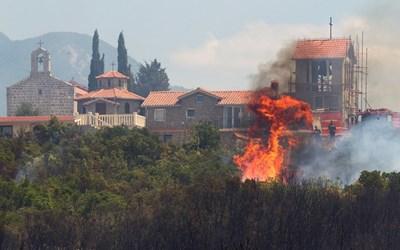 Черна гора поиска международна помощ за борба с пожарите, обхванали полуостров Лущица, на юг от Которския залив СНИМКИ: РОЙТЕРС