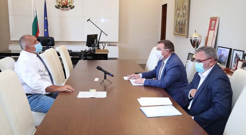 Срещата с премиера Бойко Борисов Снимка: МС