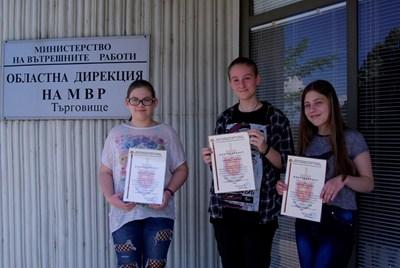 Гергана Димитрова, Пламена Христова и Виктория Филипова СНИМКА: МВР
