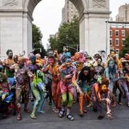 Денят на бодипейнтинга оцвети Ню Йорк