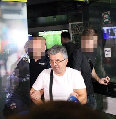 Задържаният Иван Тонев, който простреля Кирил Александров СНИМКА: Благой Кирилов