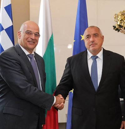 Николаос Дендиас и Бойко Борисов СНИМКА: Министерски съвет