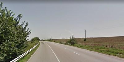Пътят Разград – Русе в участъка Осенец – Езерче Снимка: Google street view