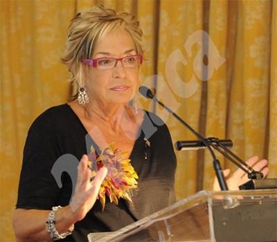 Росалия Мера говори на благотворително събитие  в Испания. СНИМКА: 24 часа