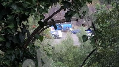Снимка от мястото на инцидента преди идването на линейките СНИМКА: 24 часа