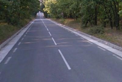 Пътят Ахтопол - Синеморец СНИМКА: Google Street View