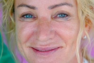 Точните сини очи на Мария Гроздева след последното състезание в кариерата й - на седмите й олимпийски игри. СНИМКИ: ЛЮБОМИР АСЕНОВ, LAP.BG