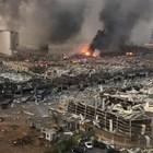 Бейрут по време на експлозията. Снимка: Туитър