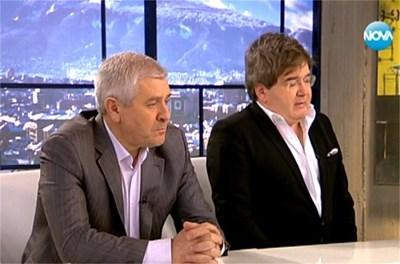 Ваньо Шарков (вляво) и Борислав Зюмбюлев СНИМКА: Нова телевизия