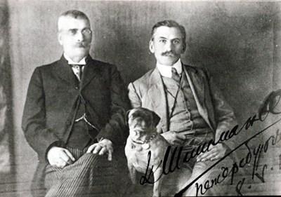 Иван Вазов със своя приятел и изповедник Иван Шишманов