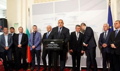 Лидерът на ГЕРБ Бойко Борисов представя управленската програма в Народното събрание. СНИМКА: Йордан Симeонов