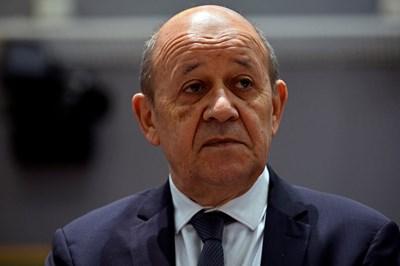 Френският министър на външните работи Жан-Ив льо Дриан СНИМКА: Ройтерс