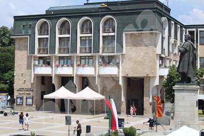 Централният площад в Благоевград, където ще се проведе церемонията  СНИМКА: Авторката