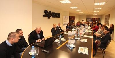 """Представянето на Smart24chasa в заседателната зала на """"24 часа"""""""