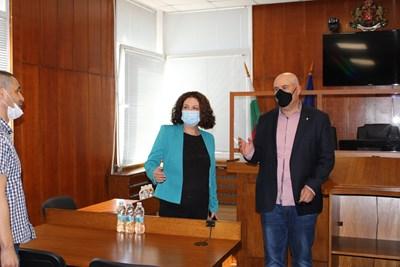 Иван Гешев с шефката на Апелативната прокуратура Таня Недкова