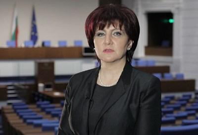 Председателката на НС Цвета Караянчева