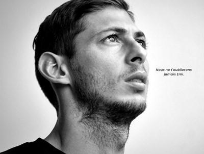 "Емилиано Сала. Снимка официален сайт на ""Нант"""