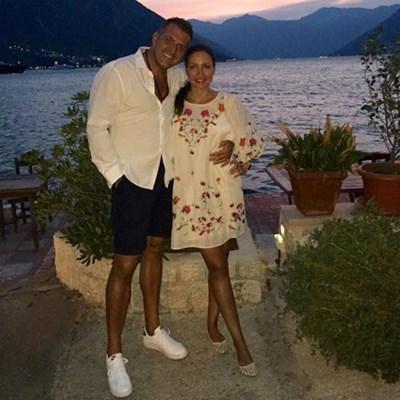 Гуркова със съпруга си Михалевич. Снимка Фейсбук