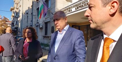 Славчо Алексиев /в средата/ и шефът на пловдивската полиция Димитър Балев.