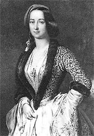 Кралица Амалия в гръцка носия