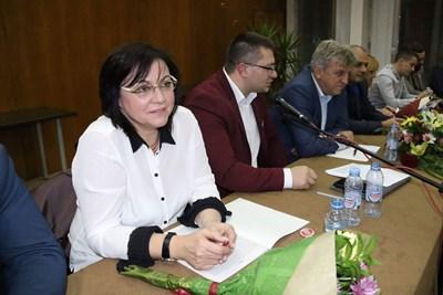Корнелия Нинова във Видин СНИМКА: БСП