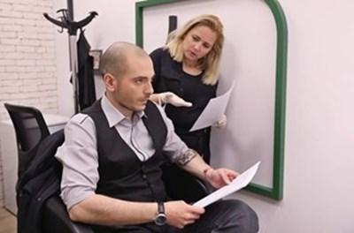 Лора Крумова и Николаос Цитиридис в подготовка на шоуто