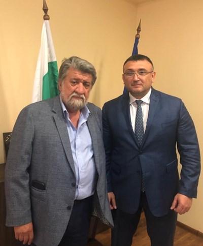 Вежди Рашидов и Младен Маринов  СНИМКА: Пресцентър на Комисията по културата и медиите