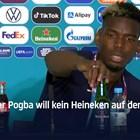 Погба копира Роналдо: махна бутилка бира от масата на пресконференция (Видео)