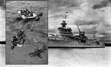 """""""Индианаполис"""" - 900 моряци под свирепа атака на акули"""
