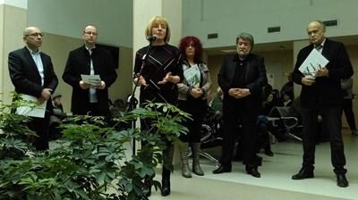"""""""Защото ракът е лечим, """"Продължаваме"""" - този слоган на Онкологията подкрепиха и председателят на комисията по медии и култура в НС Вежди Рашидов, омбудсманът Мая Манолова, зам. здравният министър д-р Бойко Пенков."""
