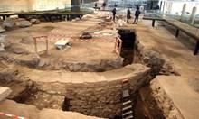 Античен храм от ІІ в. излезе под мозайките на базиликата в Пловдив (снимки)