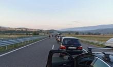 Отново ад по пътя за Гърция, 10 км колона